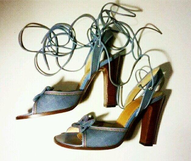 Marc Jacobs denim rainbow butterfly heels sandals Size 8(M) worn once,retail$220 #MarcJacobs #Heels