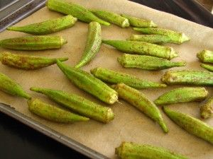 Oven Baked Okra - Nourish Your Temple