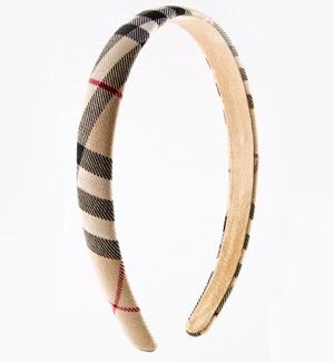 Thin headbands. Love this Burberry one