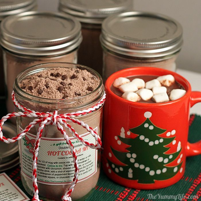 Double Chocolate Hot Cocoa Mix {the yummy life}
