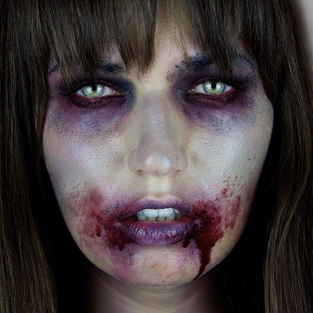 SnapWidget | BOO!! My 1st Halloween tutorial is now up! The Walking Dead Zombie inspired. See the full look on youtube.com/MissChievous #halloween #thewalkingdead