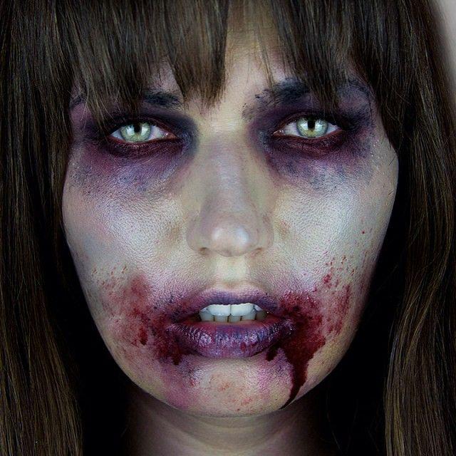 SnapWidget   BOO!! My 1st Halloween tutorial is now up! The Walking Dead Zombie inspired. See the full look on youtube.com/MissChievous #halloween #thewalkingdead