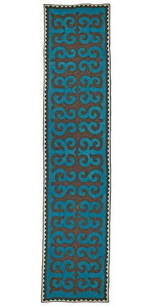 Felt - stunning unique shyrdak felt rug
