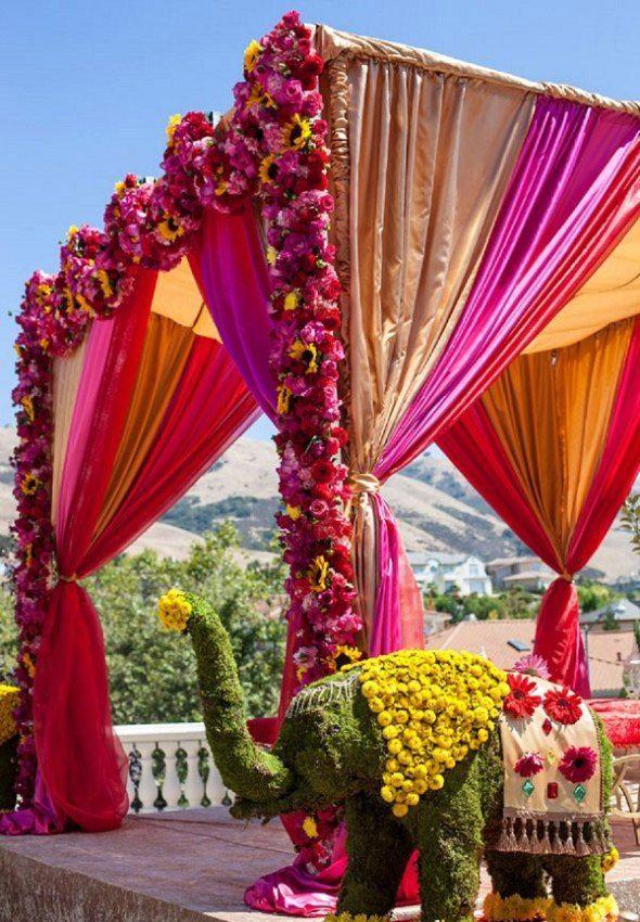 Indian Wedding Mandap Decorations Mandaps Pinterest