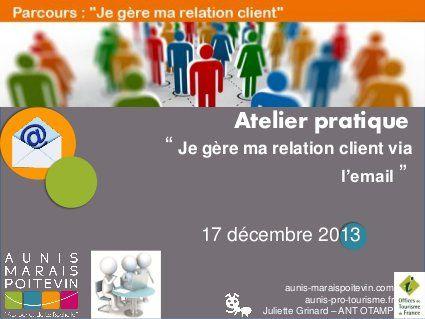 Optimiser sa relation client via l'email - Office de Tourisme d'Aunis Marais Poitevin - Juliette Grinard
