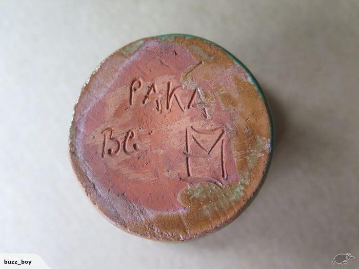 BG on green glazed piece