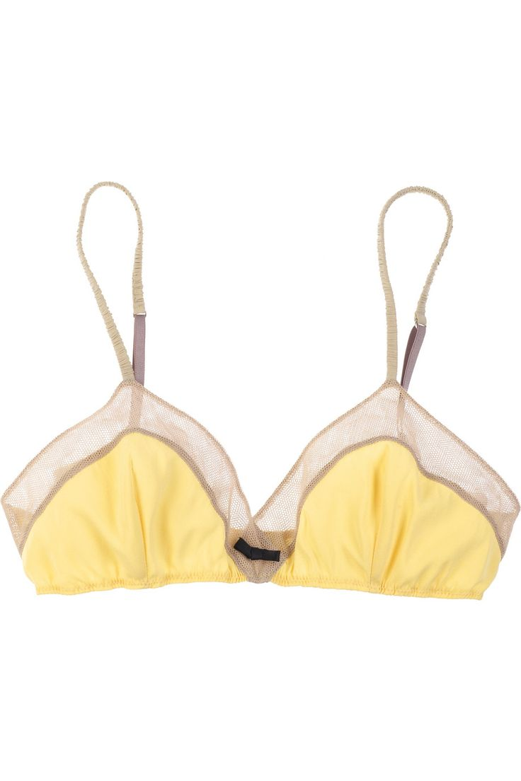 tulle-trimmed silk-blend bra by phillip lim - theoutnet.com
