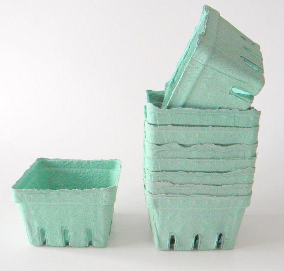 30 qty. Pint Berry Baskets, Berry Till, Biodegradable Paper Pulp Basket, Wedding Favor Basket, Farm Theme Party Favor, Spring Favor Basket