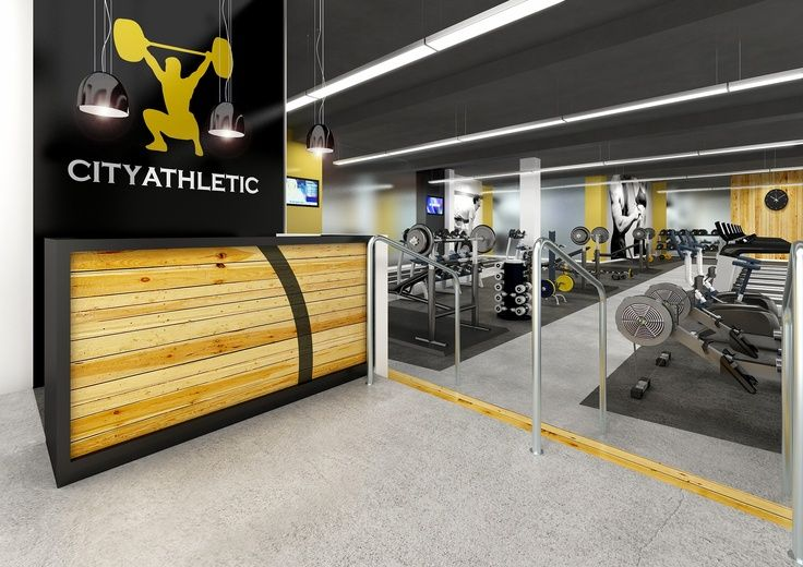City Athletic Reception Gym Modern Fitness Design Gym With
