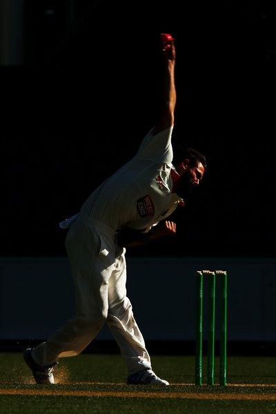 Kane Richardson in SA v NSW - Sheffield Shield: Day 2