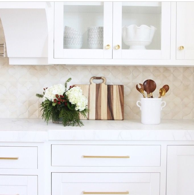 BECKI OWENS: modern mediterranean kitchen. Choose the right paint for your marble counters.