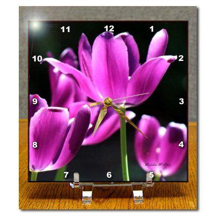 dc_7167_1 SmudgeArt Flower Art Designs - Sun kissed Purple - Desk Clocks - 6x6 Desk Clock 3dRose http://www.amazon.com/dp/B004725GHO/ref=cm_sw_r_pi_dp_yRQbwb1MTBV9K
