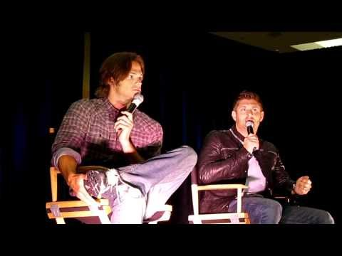 """▶ Jared & Jensen talking about Misha's """"accident"""" - Supernatural Vancon 2010 (clip 10) - YouTube. (But what actually happened???)"""