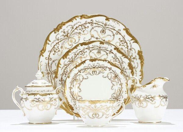 Coalport Anniversary china dinnerware set for 12 +serving.