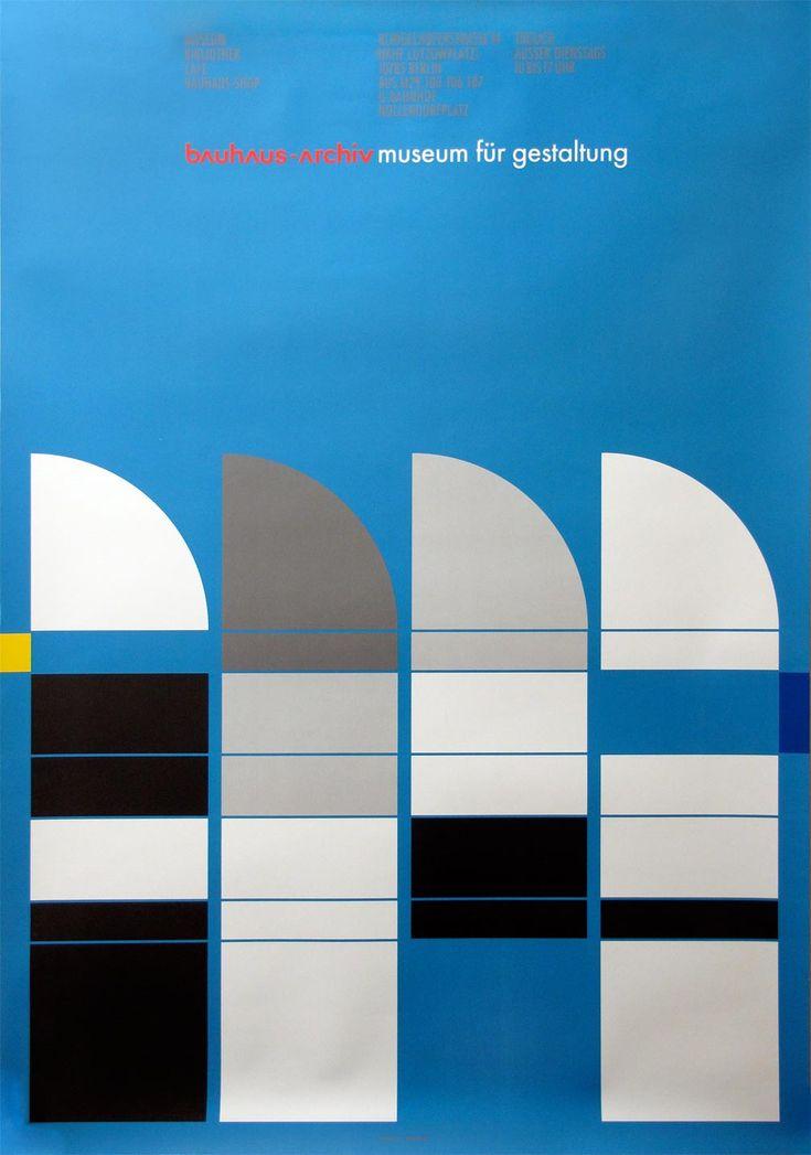 Poster for the Bauhaus-Archiv — Ott+Stein, 1986