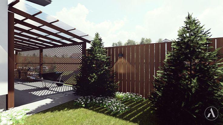 Drewutnia zlokalizowana między domem, a ogrodzeniem - zdjęcie od Aleksandra Wachowicz - Ogród - Styl Nowoczesny - Aleksandra Wachowicz