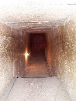 Great Pyramid of Giza. I thought it was claustrofobic.....