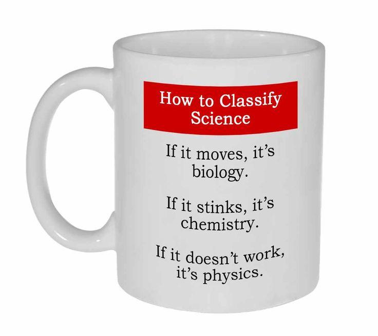 Science Classification Funny Coffee or Tea Mug