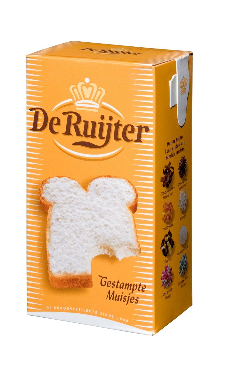 "Gestampte muisjes (Dutch) – literally translates into ""crushed mice,"" it's a sweet anise sugar (texture of powdered sugar). Named this way presumably because it's like regular ""muisjes"" but in powder form. Yummy on warm toast with butter because that's when the gestampte muisjes start melting a bit :)"