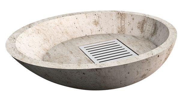 Viteo, уличный камин из коллекции Low, бетон, металл