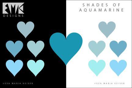 """Eva Maria Keiser Designs: Explore Color: """"Shades of Aquamarine"""""""