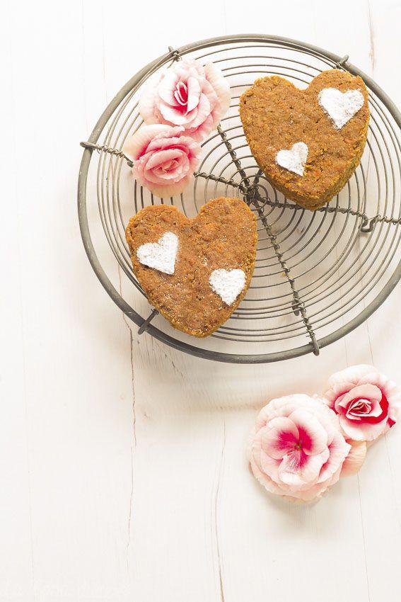 Bizcochitos corazón de zanahoria y almendra sin gluten y sin lácteos - La Rosa Dulce