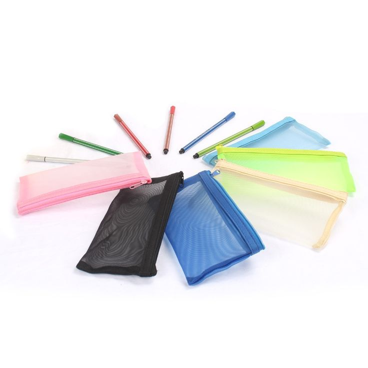 Transparent Pencil Case School Supplies Lapices Bags Papelaria Estojo Escolar Menina Net Yarn Fourniture Scolaire Kalemlik Okul #>=#>=#>=#>=#> Click on the pin to check out discount price, color, size, shipping, etc. Save and like it!