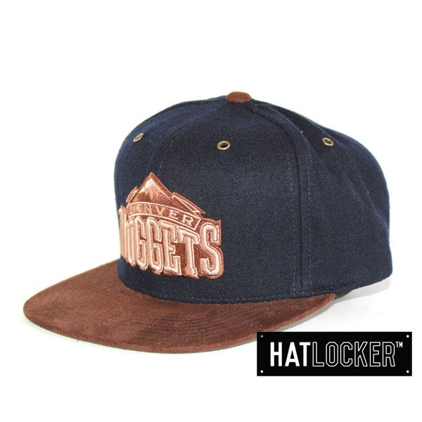 Denver Nuggets Winter Suede Strapback from Mitchell & Ness | www.hatlocker.com