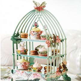 Pastries & Pearls Birdcage Cake & Sandwich Stand
