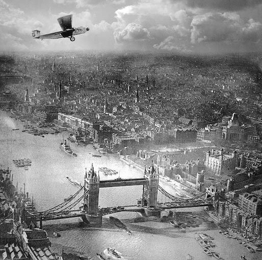 This aerial photograph of London was taken in the early 1920s by Alfred G Buckham, a remarkable photographer and pilot