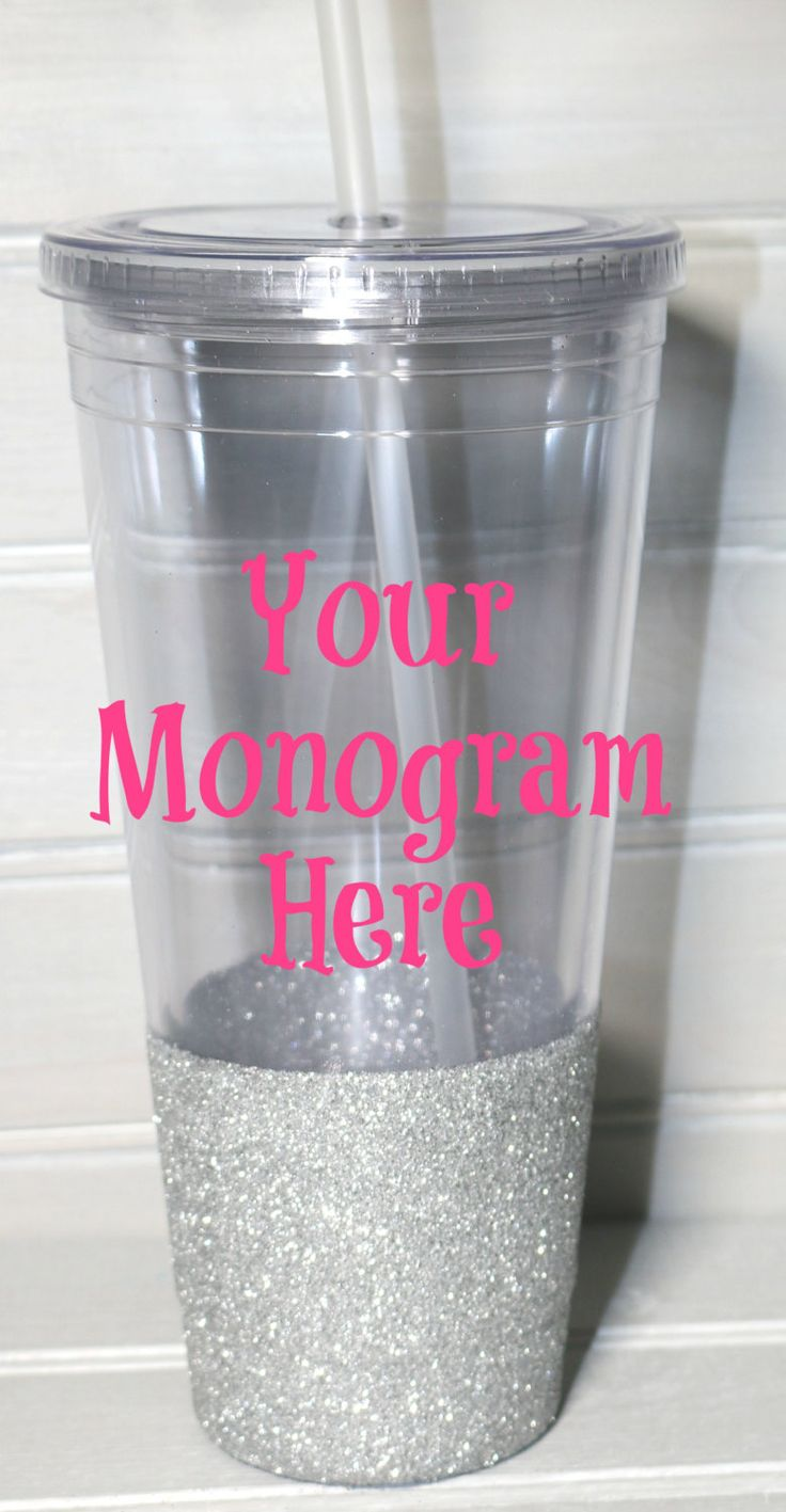 Design your own Tumbler//Glitter Dipped// Personalized Tumbler//Monogrammed Tumbler by OhMyGlitterDesigns on Etsy