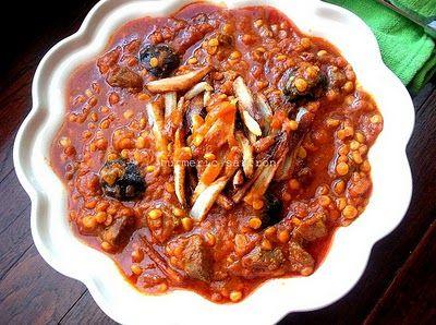 Persian Food: Khoresh Ghaymeh - Traditional Iranian Dish of Meat & Yellow Split Peas w/ recipe