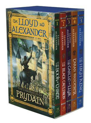 The Chronicles of Prydain Series by Lloyd Alexander....5 book fantasy series, that every fantasy fan should read.  Timeless, imaginative, and adventurous.