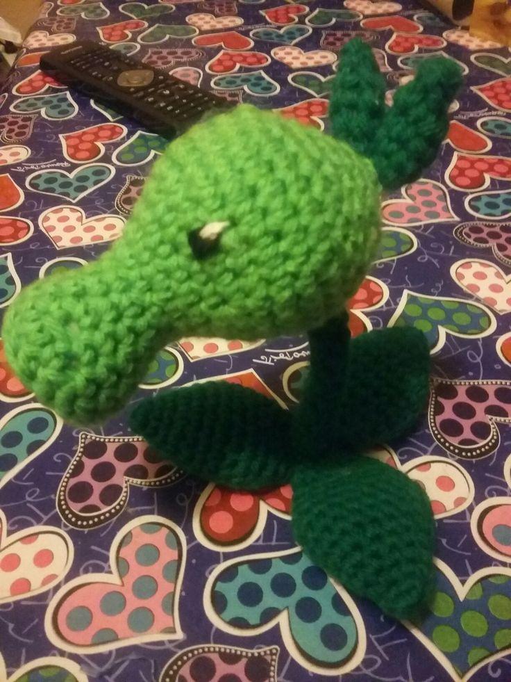 Pea shooter crochet - plants vs  zombies