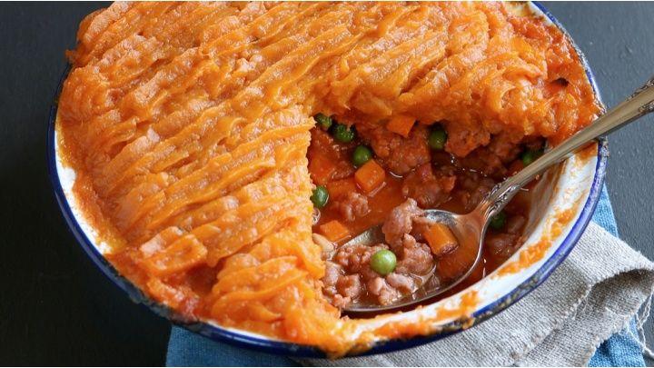 Mince and sweet potato pie