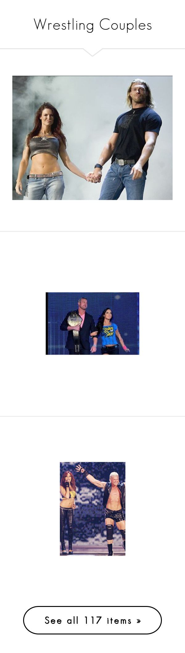 """""""Wrestling Couples"""" by theonewithstarsinhereyes ❤ liked on Polyvore featuring wrestle, accessories, wwe, pictures, aj lee, people, wwe diva, gift cards, home and home decor"""