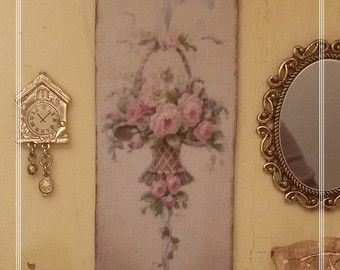 1:12 francés tapiz 12.5x5cm lona dollshouse miniatura doble antigua tela colgante de pared hecha a mano