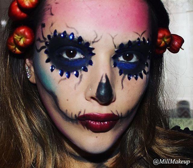 ✨ Skull chic ✨  #halloweenskullmakeup#halloweenmakeup#truccohalloween#teschiohalloween
