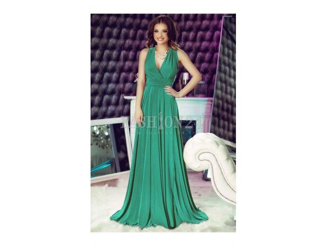 Rochie verde light lunga versatila Fatima
