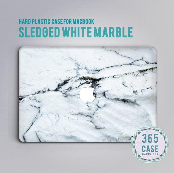 Hard Plastic MacBook pro 13 Case Marble Grey White von 365case