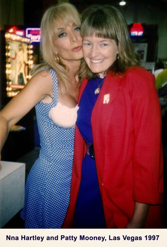 Porn star Nina Hartley with San Diego video producer,  Patty Mooney, Las Vegas 1997 - (Photo credit: DP Mark Schulze of Crystal Pyramid Productions - http://sandiegovideoproduction.com/video-producers/patty-mooney/)