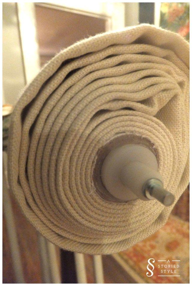 DIY Tutorial: Upholstered Roller Shade   A Storied Style   A design blog…