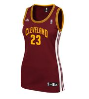 ADIDAS Lebron James Cleveland Cavaliers Women's Wine Replica Jersey