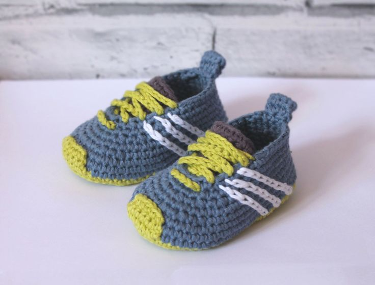 Cute Baby Sneaker Crochet Pattern Booties Federation Runners Cool