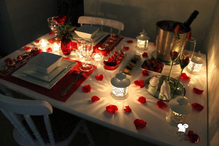 Resultado de imagem para jantar romântico simples