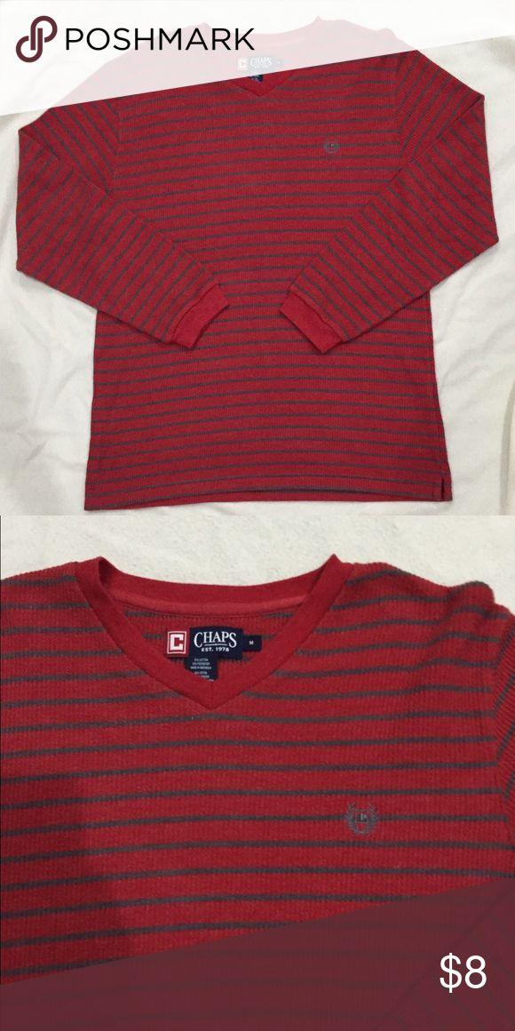Men's chaps shirt Red/gray thermal Chaps Shirts Tees - Long Sleeve