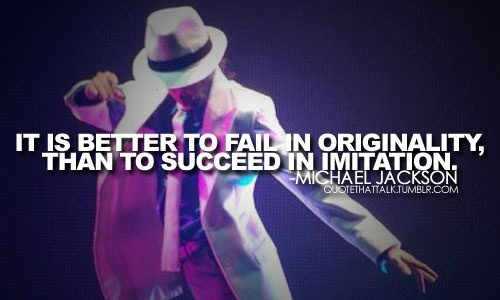 And that's exactly what he did... Being original :-)