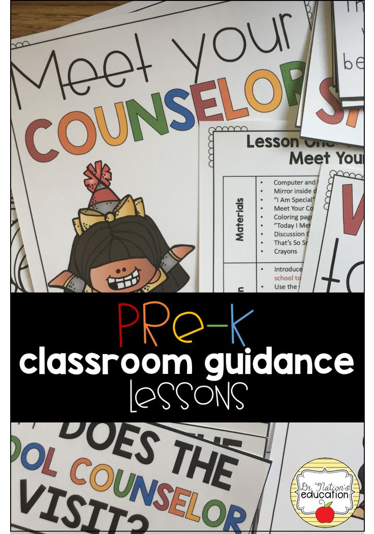 Everything you need to conduct classroom guidance lessons to Pre-K students all year long!