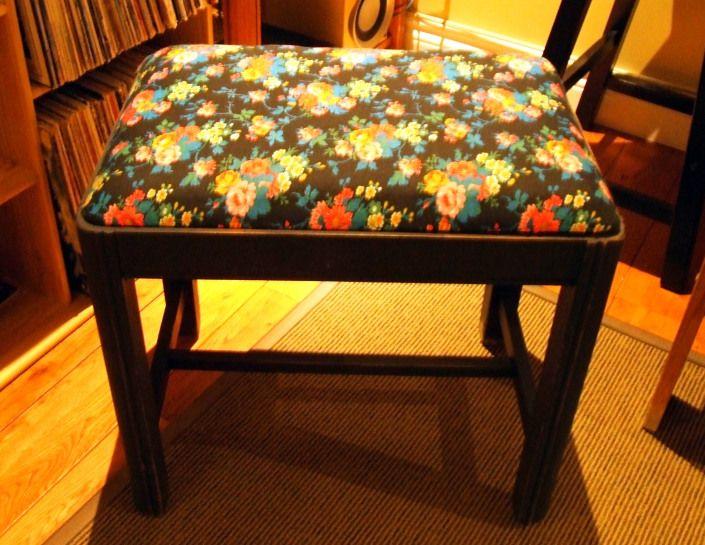 Refurbished Floral Bench
