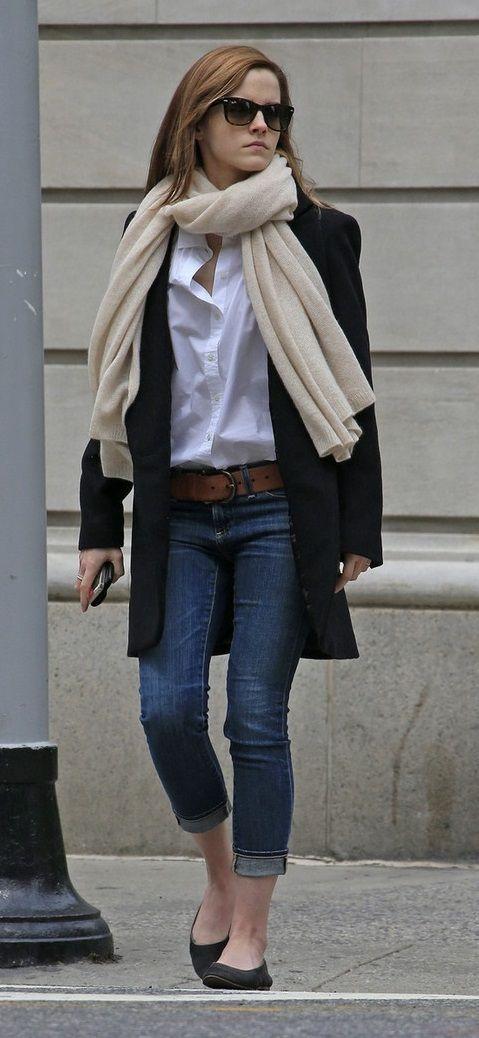 Emma Watson // casual streetwear